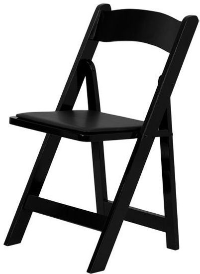 FOLDING CHAIR BLACK WOOD PADDED VINYL SEAT SET OF 10 CHAIRS FREE SHIPPING