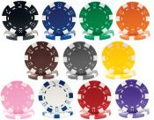 Striped Dice 11.5g Poker Chips