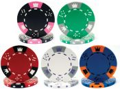 Tri-Color Triple Crown 11.5g Poker Chips