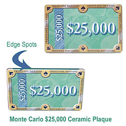 25 000 monte carlo ceramic plaque. Black Bedroom Furniture Sets. Home Design Ideas