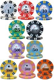 2 Stripe Twist Series 8 gram Poker Chips