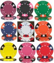 Crown and Dice 3 Tone Series 14 Gram Poker Chips