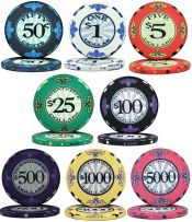 Scroll Series 10g Ceramic Poker Chips