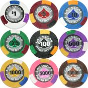 Las Vegas 4 Color 13.5g Clay Poker Chips