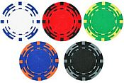 Z Striped Poker Chips 14g