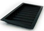 ABS Plastic Chip Tray 9 Row - black