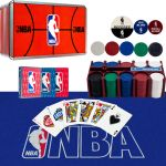 200 Chips NBA poker chips chip set Tin Box Card and Felt