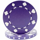 Purple Suited Casino Poker Chip 11.5 gm