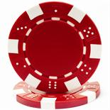 Red Striped Dice Casino Poker Chip 11.5 gm