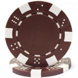 Brown Striped Dice Casino Poker Chip 11.5 gm