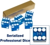 Blue Casino Dice Grade Serialized Grade Casino Dice