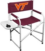 Virginia Tech Directors chair Double Layered Denier Polyester