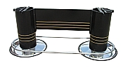 Chrome Poker Tables Pedestal Legs Gold Trimming Poker Table Legs