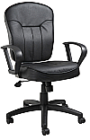B1562 Poker Chair Leatherplus Loop Arms Chair