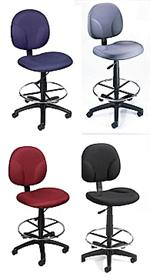 B1690 Poker chair for poker tables Drafting Stool Footring Fabric Chair