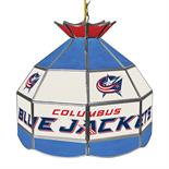 NHL 16 Inch Handmade Stained Glass Lamp - Columbus Blue Jackets