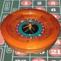 Mahogany 19 inch Roulette Wheel