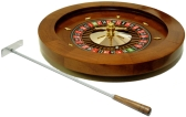 Wood Deluxe Roulette Wheel Metal Rod Gift Box included