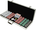 500 11.5 Gram DICE-STRIPED Chips in ALUM Case