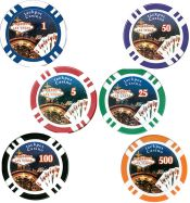 Jackpot Casino Clay 11.5g Poker Chips