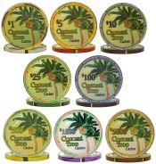 Coconut Tree Ceramic 10g Poker Chip