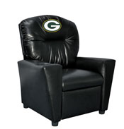 Green Bay Packers Faux Leather Kids Recliner