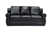 Green Bay Packers Coach Leather Sofa