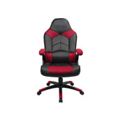 Oversized Video Gaming Chair; Black/Red