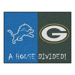 NFL - Detroit Lions - Green Bay Packers House Divided Rugs 33.75