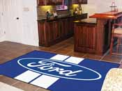 Ford Oval with Stripes Rug 5'x8'