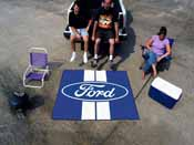 Ford Oval with Stripes Tailgater Rug 5'x6'
