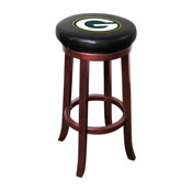 Green Bay Packers Wooden Bar Stool