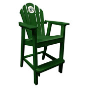 Green Bay Packers Captains Pub Chair-Green