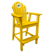 Green Bay Packers Captains Pub Chair-Yellow