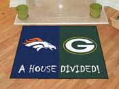 NFL Broncos / Packers House Divided Rug 33.75