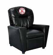 Boston Red Sox Faux Leather Kids Recliner