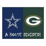NFL - Bears - Packers House Divided Rug 33.75