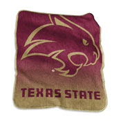 TX State Raschel Throw