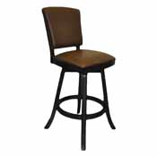 Imperial Bar Stool With Back, Black