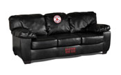 Boston Red Sox Blk Leather Classic Sofa