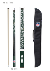 Green Bay Packers Cue And Case Combo Set