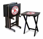 Boston Red Sox 4 TV Trays with Stand
