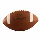 Junior-Size Sewn Rubber Football Deflated