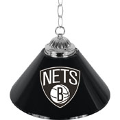 Brooklyn Nets NBA Single Shade Bar Lamp - 14 inch