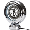 Brooklyn Nets NBA Chrome Retro Style Tabletop Neon Clock