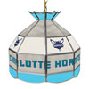 Charlotte Hornets NBA 16 Inch Stained Glass Lamp