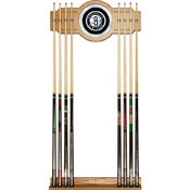 Brooklyn Nets NBA Billiard Cue Rack with Mirror