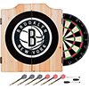 Brooklyn Nets NBA Wood Dart Cabinet Set