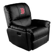 Boston Red Sox MLB Rocker Recliner with Secondary Logo Panel