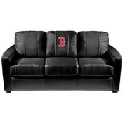 Boston Red Sox MLB Silver Sofa with Secondary Logo Panel